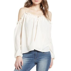 Leith Cold shoulder ruffle trim top XXL